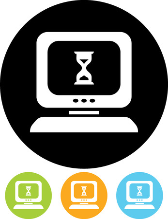 Computer hing. Desktop computer error vector icon Stockfoto - 53059822