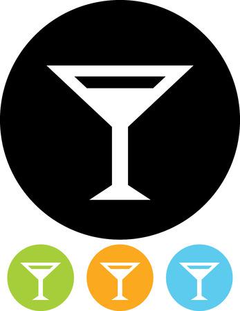 Cocktail martini glass bar sign vector icon