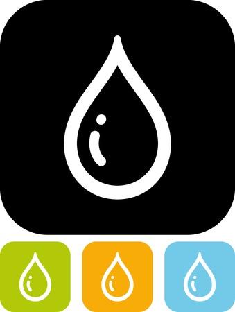 Water drop - icona di vettore isolata