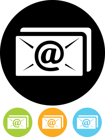 Email message envelope vector icon