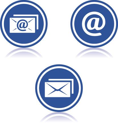 Email correspondence icons Illusztráció