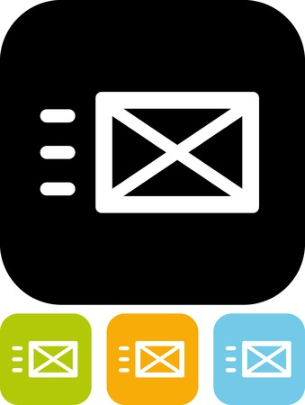 Send message - Vector icon isolated Illustration