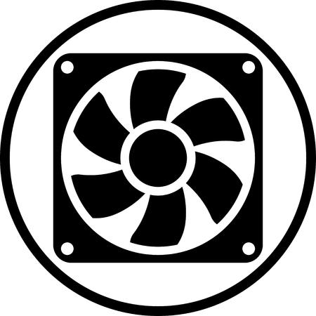 Exhaust fan vector icon Ilustracja