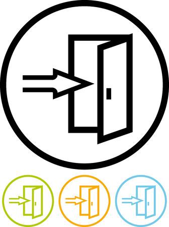 Openen of te sluiten van de deur vector icon