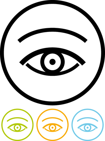 Vector icon isolated on white - Human Eye