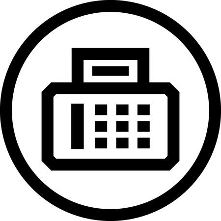 Fax - Vector-Symbol isoliert Standard-Bild - 52951085