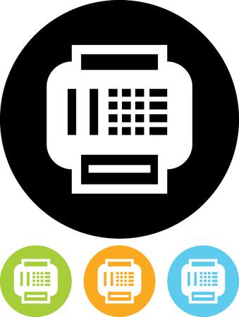 Fax - Vector-Symbol isoliert Standard-Bild - 52951087