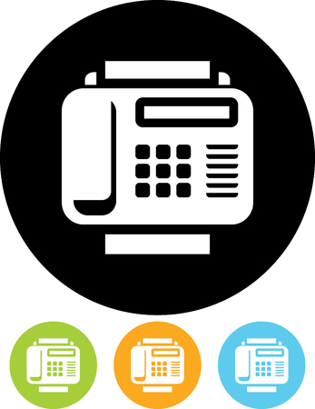 Vector icon isolated - Fax machine Çizim