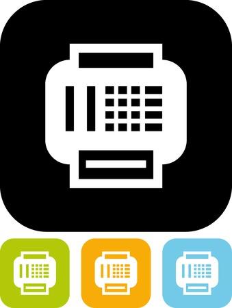 팩스 기계 - 절연 벡터 아이콘