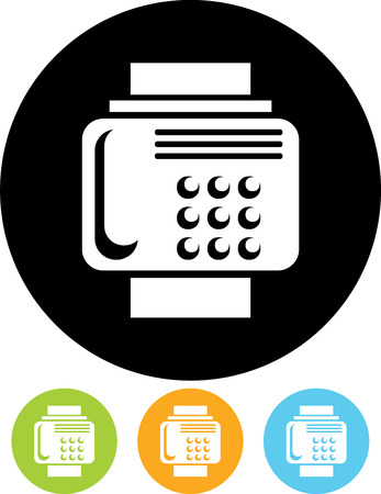 Fax machine - Vector icon isolated Illustration