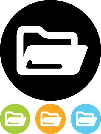 Open map - Vector icoon geïsoleerd