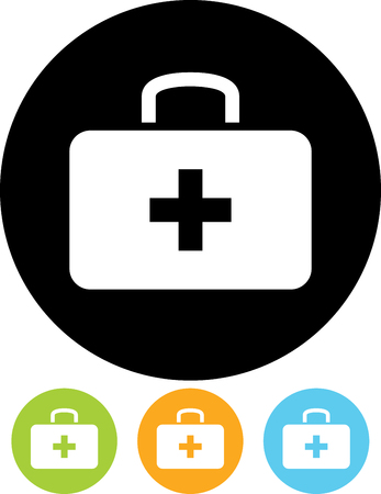 Trousse de premiers soins - vecteur icône isolé Banque d'images - 52951103