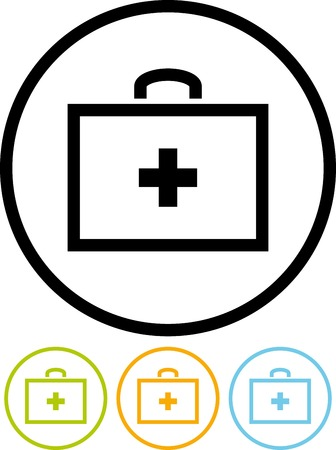 Vector icon isolated on white - First Aid Kit