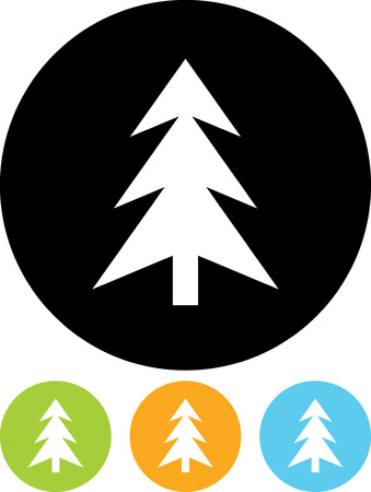 Fir Tree - Vector icon isolated Ilustrace