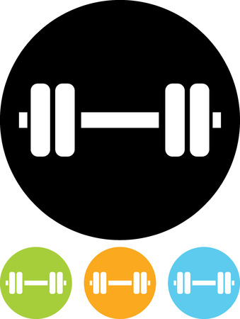 Sports gym equipment. Dumbbell - Vector icon isolated Illustration