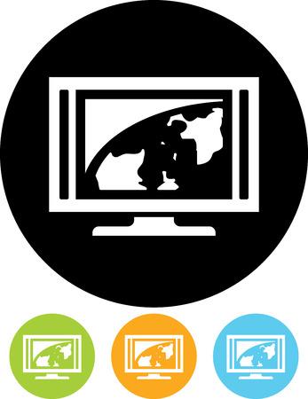 Vector illustration - Flatscreen TV