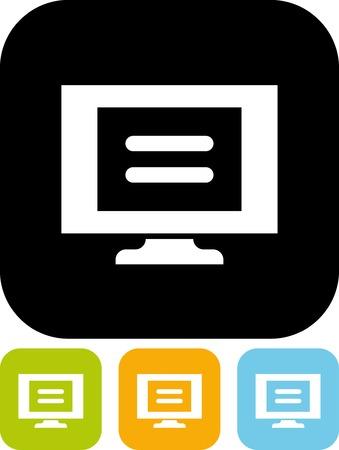Monitor - Eenvoudige vector icon
