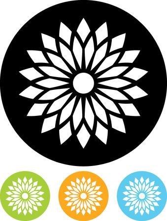 Flower - Vector icon isolated Illusztráció