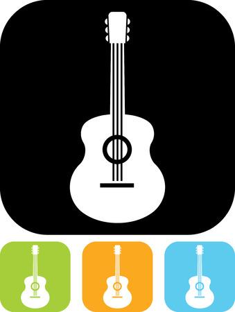 Acoustic guitar - Vector icon isolated Ilustração