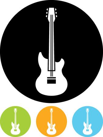 Guitar - vecteur icône isolé Banque d'images - 52951184