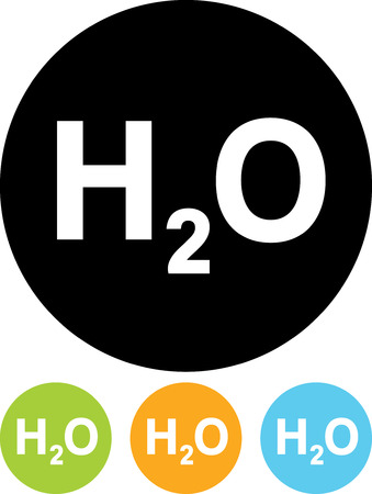 Water chemical formula - Vector icon isolated