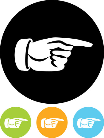 Hand pointing right  - Vector icon