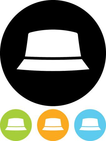 Men's hat vector icon