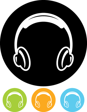 Headphones - Vector icon isolated Illusztráció