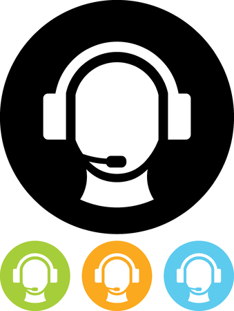 Operator in headset - Vector icon isolated Ilustrace