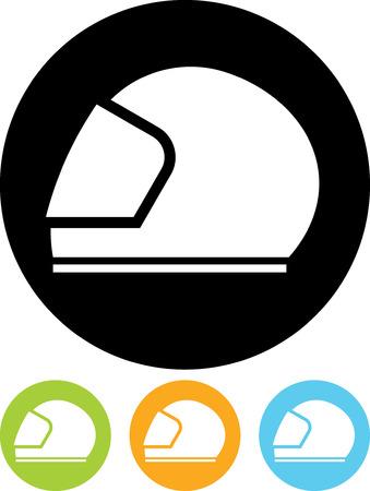 Motorhelm - Vector pictogram geïsoleerde