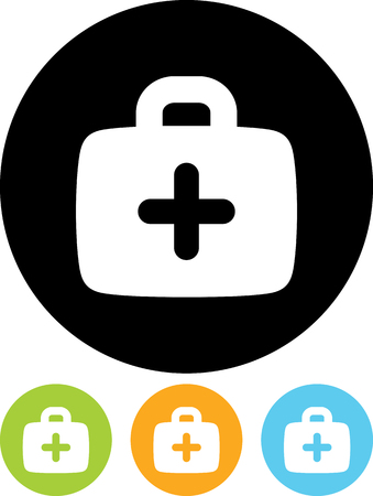 First aid medical kit - Vector icon isolated Illustration