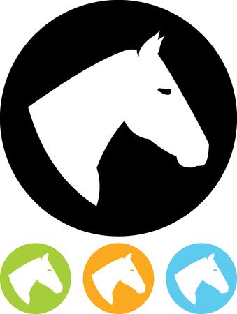 馬の頭に-分離ベクトル アイコン