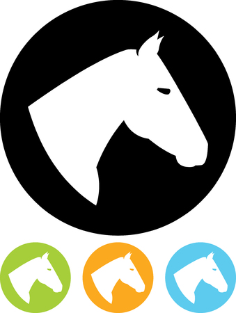 Horse head - Vector icon isolated Illustration