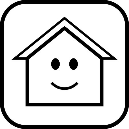 Happy House - Vector icon isolated