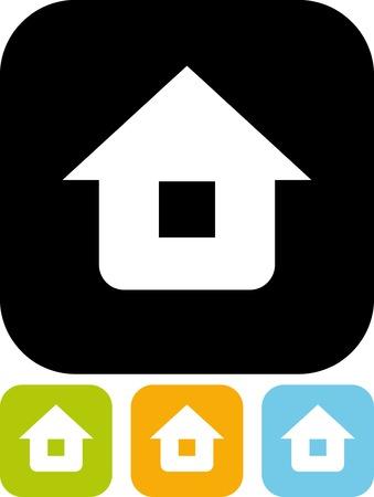 geïsoleerd Vector pictogram - naar huis