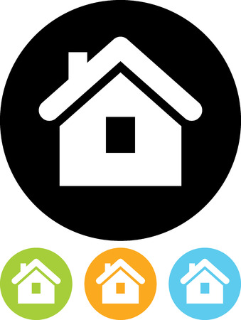 Real estate concept. Small house - Vector icon isolated Çizim