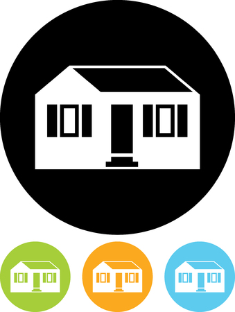 Small suburban house vector icon isolated