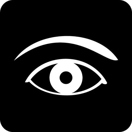 ベクトルのアイコン - 人間の目  イラスト・ベクター素材