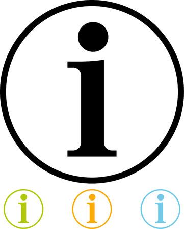 Info sign - Vector pictogram geïsoleerde
