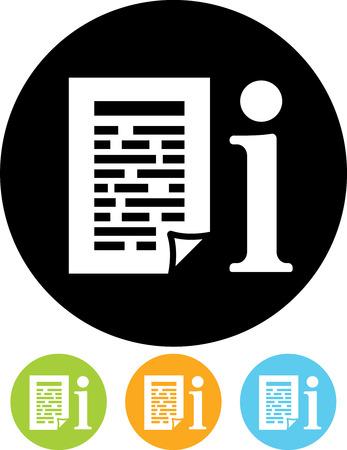 Info manuelle Dokumenten Vektor-Symbol