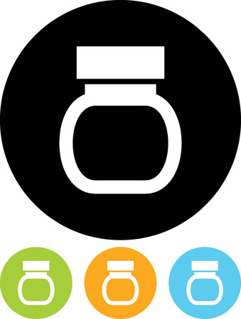 Jar with Jam - Vector icon isolated