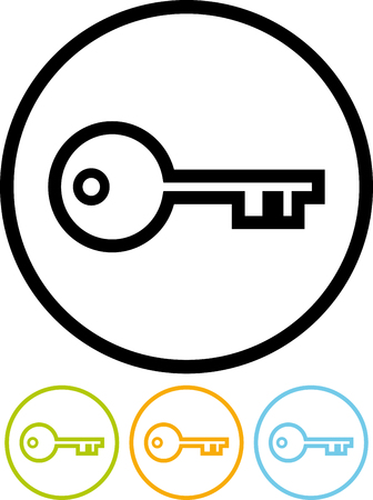 Vector pictogram geïsoleerd op wit - Key