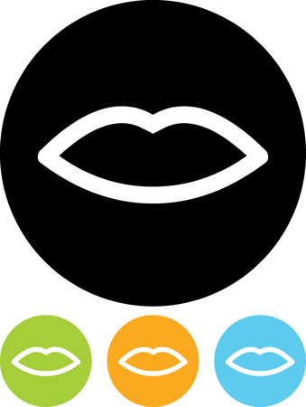 Lips - Vector icon isolated