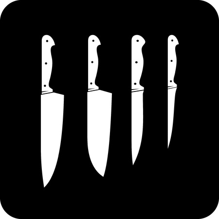 Kitchen knives - Vector icon isolated