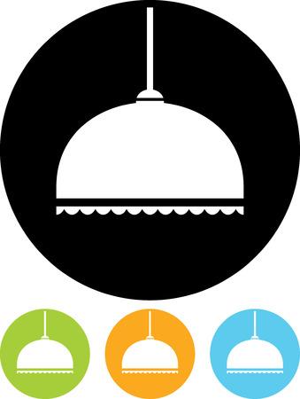 Hanglamp in lampenkap - Vector pictogram geïsoleerde Stock Illustratie