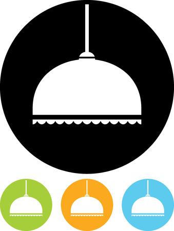 Pendant Lamp in Lampshade - Vector icon isolated Illustration