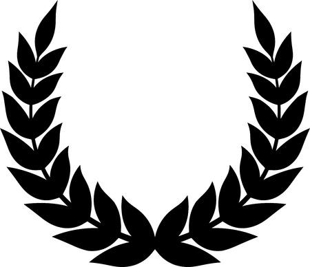 Laurel wreath vector Vectores