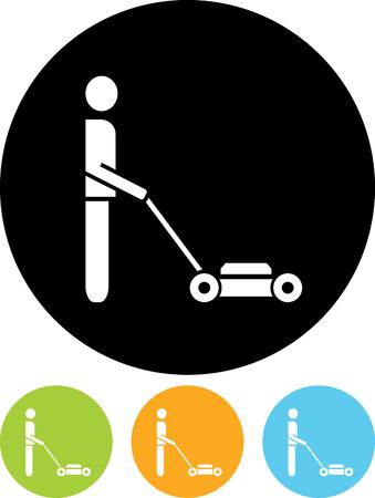 Lawnmower vector icon
