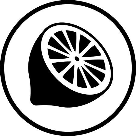 Half of lemon vector icon