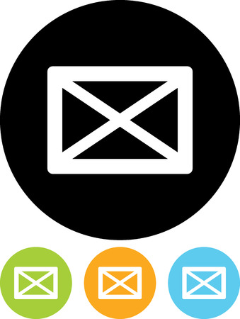 Envelope with message - Vector icon isolated